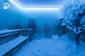 sauna cu zapada